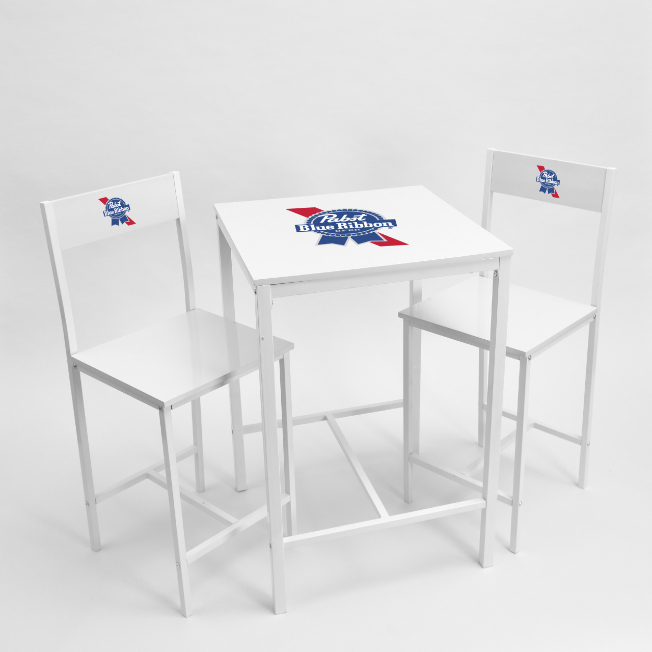 White Indoor High Bar Table And Chair Set White Tables